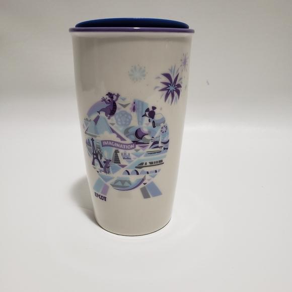 Disney Starbucks Epcot Ceramic Tumbler Imagination